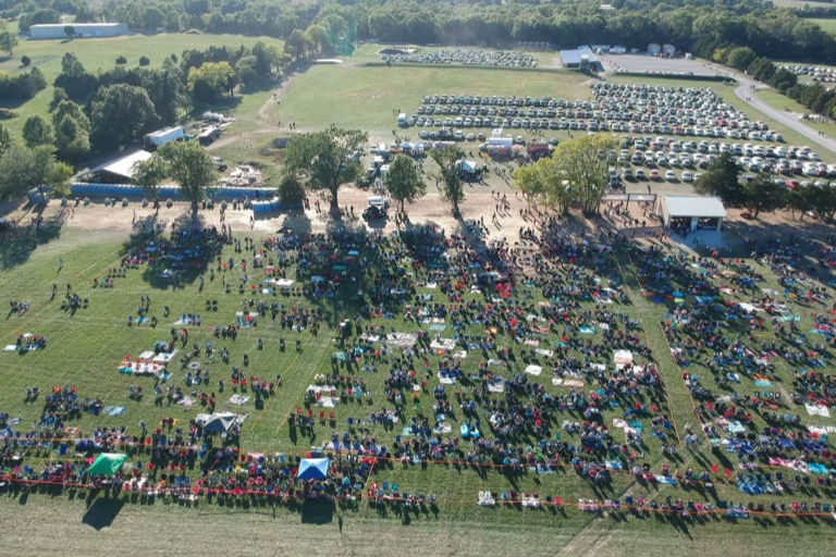 Pyromania Crowd Picture from drone before IPC performed